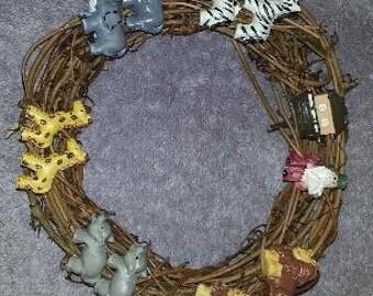 Noah's Ark Wreath