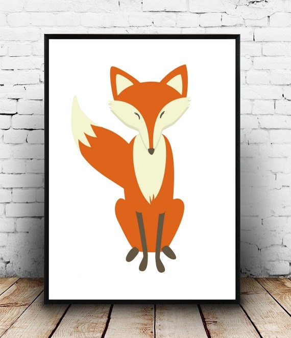 Nursery Wall Print Fox Printable Art Home Decor By Honeytreeprints