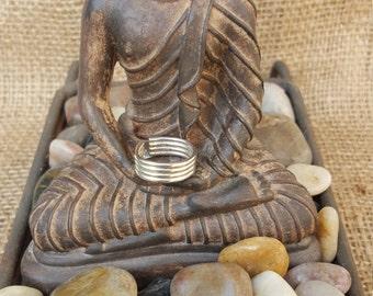 Sterling silver upper finger ring