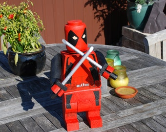A unique handmade figure (Deadpool)