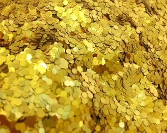 GOLD Glitter HEX 1.5mm Solvent Resistant  for Nail Polish Franken Supplies Arts, Crafts, Scrapbooking XGS16