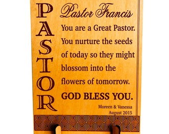 Pastor Christmas Gift, Pastor Thanksgiving Appreciation Gift, Custom Pastor Gift from Family, Thank You Gift to our Pastor . PLP052