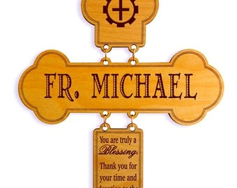 Reverend Father Custom Gift, Appreciation Gift for Bishop, Monsignor, Deacon, Priest, Members, Birthday Gift, Clergy Recognition Gifts,Vicar
