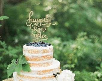 Happily Ever After Wedding Cake Topper, Glitter Decorations, Bridal Brunch, Luncheon, Engagement Party, Elopement, Vow Renewal, Gay Lesbian