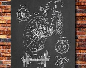 Bicycle Patent Print Art 1899