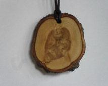 Cedar wood , cedar necklace , Cedar pendant , cedar jewellery , pagan jewellery, wooden pendant