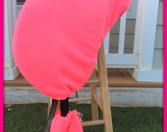 English Dressage/Jumping/All Purpose Saddle Cover in Neon Hot Pink Fleece-Equestrian Horse Tack