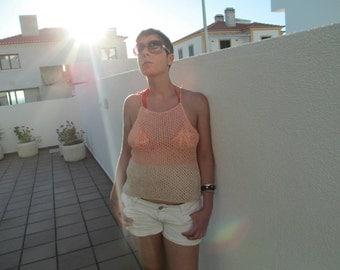 Top/tank/summer fashion/woman fashion/beach wear/girl fashion/handknitted and crocheted
