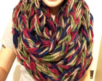 Super Chunky Arm Knit Infinity Scarf