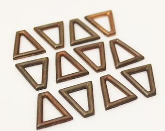 Vintage Copper Jewelry Findings,Unusual Jewelry Findings, Brass Supplies Made in USA (FDS-110)