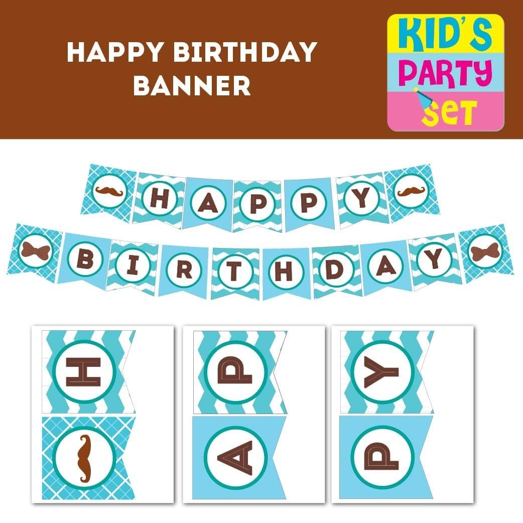 happy birthday printable banner free
