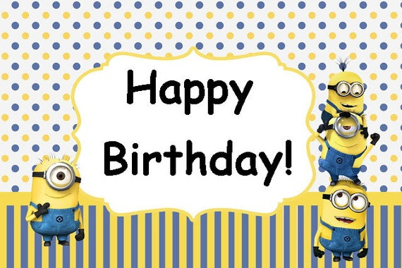 Obsessed image with minion birthday cards printable
