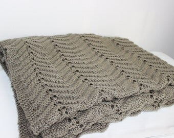 FREE SHIPPING Knit Blanket  Afghan Bedding Blanket