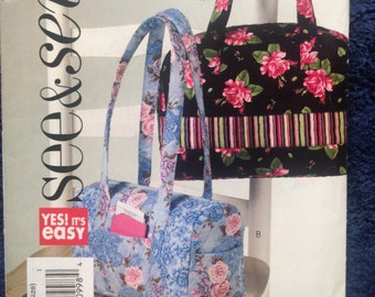 Flat Bottom Purse/Handbag B4840 - EASY Sewing PATTERN.