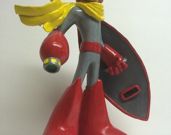 Protoman figure inspired by Mega Man