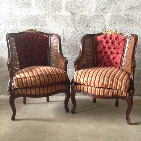 Antique French Louis XVI Cane Sofa Settee By