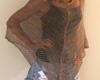 Vintage Sheer Poncho, ONE SIZE