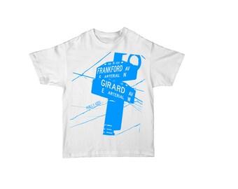 """Frankford & Girard Street Sign Kids T Shirt """"Philly Kids"""" Fishtown Kensington Philadelphia"""