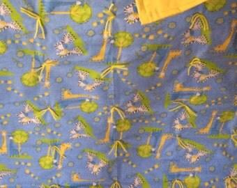 Giraffes and zebra blanket
