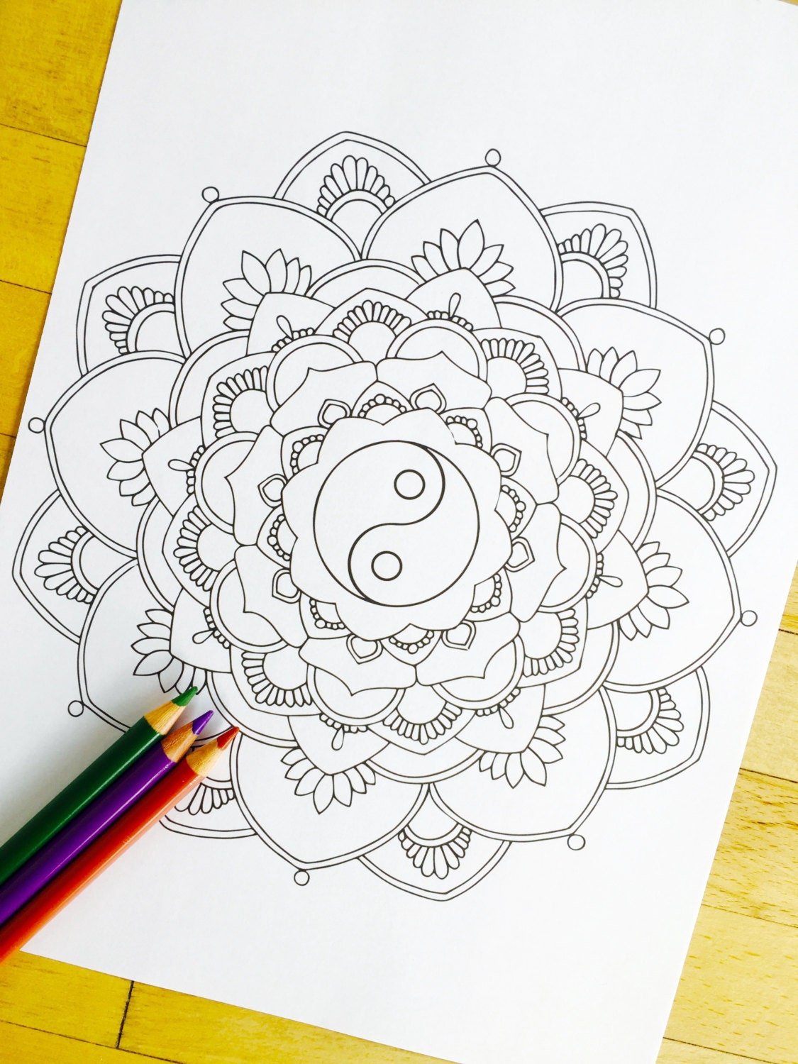 Coloring pages yin yang - Like This Item