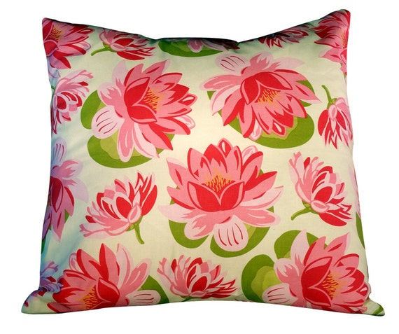 Pink Floral Cover on Etsy 20x20