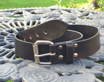 Light weight 3mm hand made Leather belt 1.5 inches wide