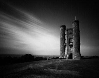 Landscape Fine Art Photo:  Haunted Tower, Cotswolds, Broadway, England, Countryside, Landscape, Castle.