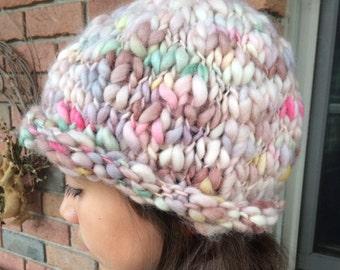 Women's Hand-Knit Wool Hat