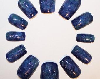 Constellation Galaxy False Nails