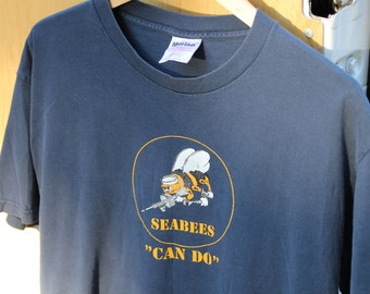 """Vintage Seabees """"Can Do"""" Cotton Tee"""