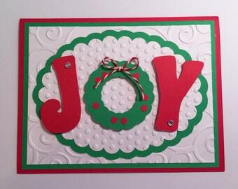 Handmade Christmas Card - Joy