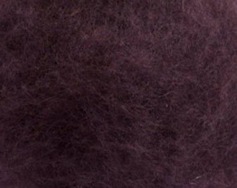 Carded Maori New Zealand Wool for Needle and Wet Felting - Purple