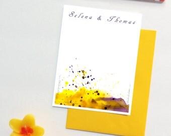 Wedding Thank You Cards, Watercolor Wedding Thank Yous, Wedding Watercolor Thank You Cards, Wedding Thank You Notes, Wedding Note Cards Set
