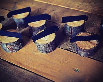 12 rustic place card holders, tree card holders, place holders, rustic wedding