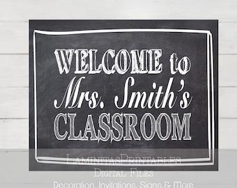 Classroom Decor, Teacher Classroom Decor, Classroom sign, Classroom Welcome Sign, Teacher door sign, Teacher name sign, Teacher welcome Sign