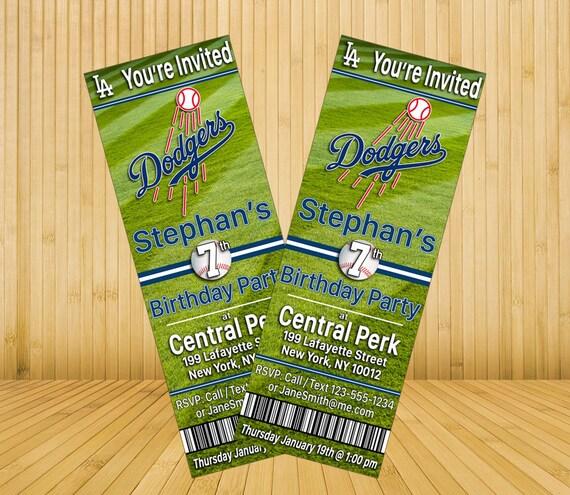 Los Angeles Dodgers Custom Birthday By MysteryBoxStudio On