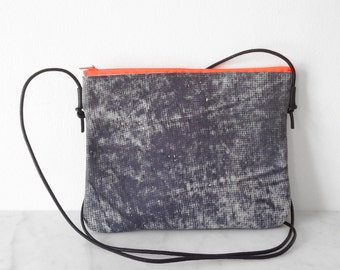 DISCOBAG Special Edition, made from fancy leather, concrete grey