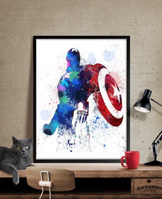 captain america captain america print marvel avengers
