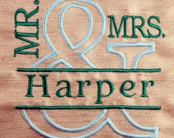 Mr & Mrs Monogram