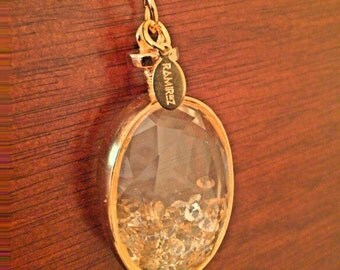 Necklace with Crystals Pendant