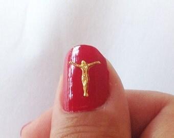 3d art nail beautiful nails protection JESUS 5 Units