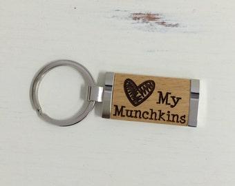 Engraved Keychain, Personalized Keychain, Wood Keychain, Personalized Birthday Gift