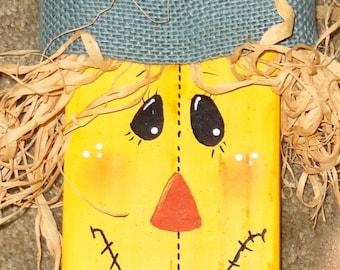 wood 2 x 4 scarecrow decoration