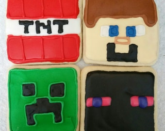 Minecraft Cookies 1 dozen