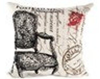 Printed chair pillow cover