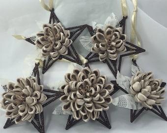 Memorial Ornament, Rememberance Heirloom Wedding Dress Ornament,  made from Wedding Dress, Vintage Wedding Fabric Ornament
