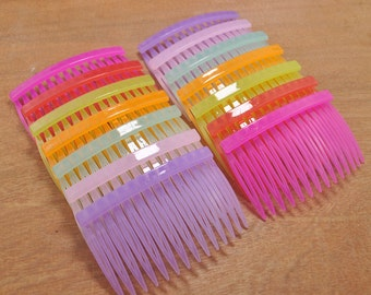 Hair Combs,20 pcs Mixed color plastic Hair Combs 14 teeth (45mmx70mm)
