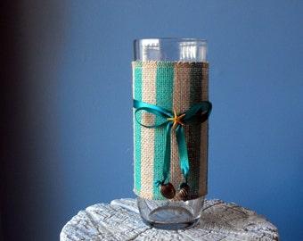 Glass Vase - Coastal Decor - Beach Decor (BC-22)