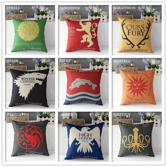 Game of Thrones House Sigils Home Decor Flat Pillow Cases