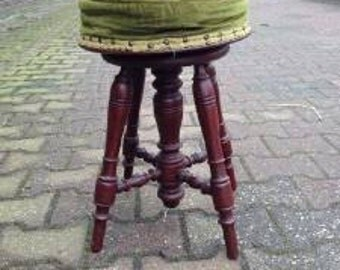 Antique french piano stool